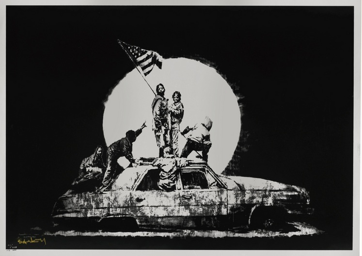 Banksy Flag on Formica