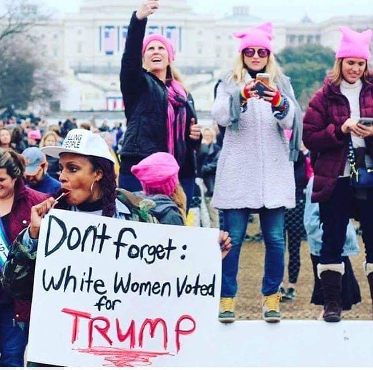 Photo from Women's March on Washington, Original Photographer unknown.