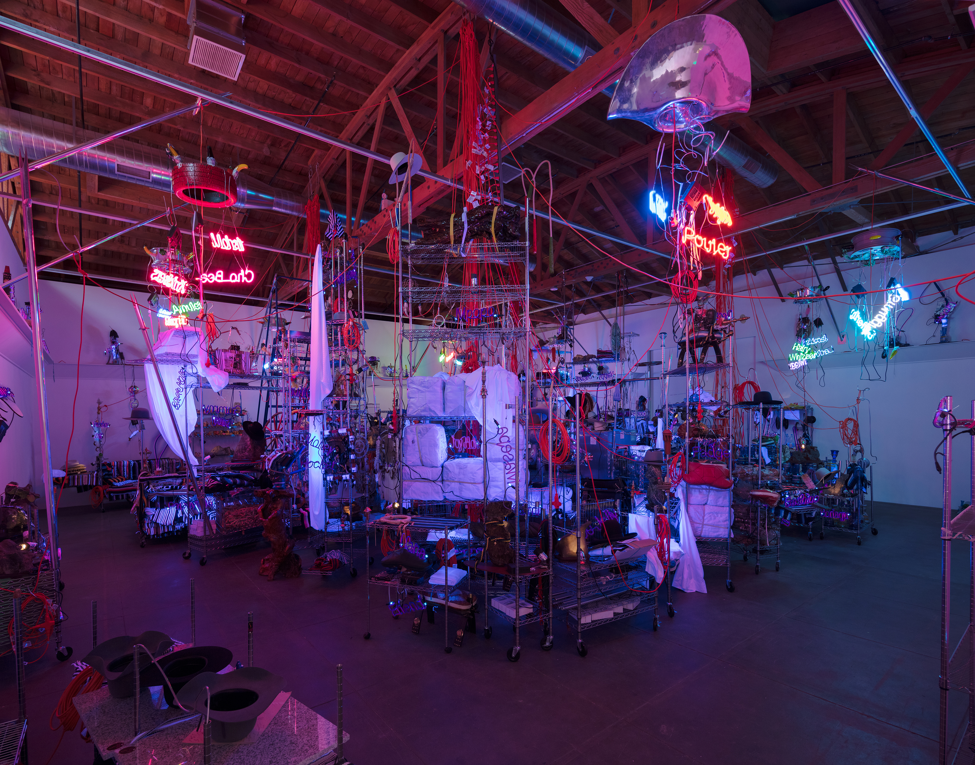 "Jason Rhoades, ""Black Pussy"" at Hauser, Wirth and Schimmel"