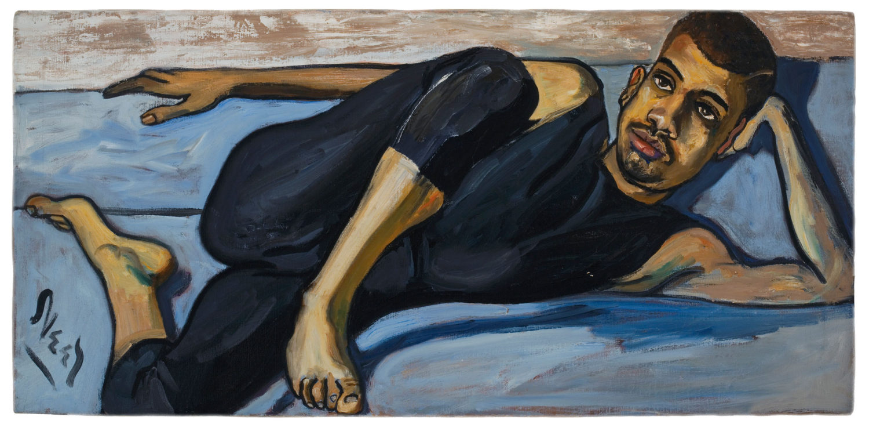 """Alice Neel. """"Ballet Dancer,"""" 1950. Oil on canvas. 20.12 x 42.12 in."""