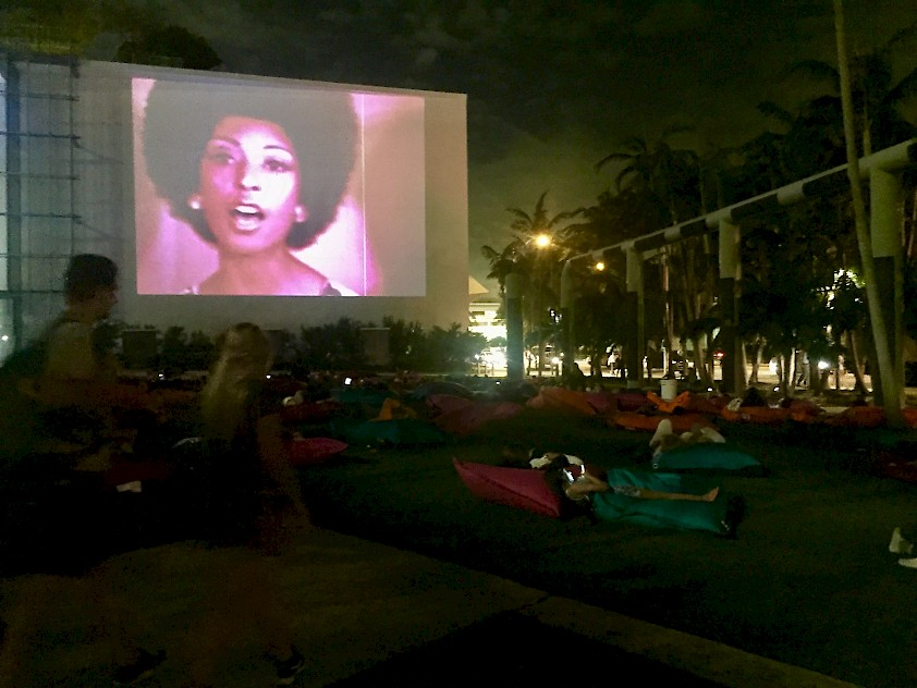Luther Price, screening documentation, Art Basel in Miami Beach Film Program, 2016. Image courtesy of the artist and Callicoon FineArts, NY.