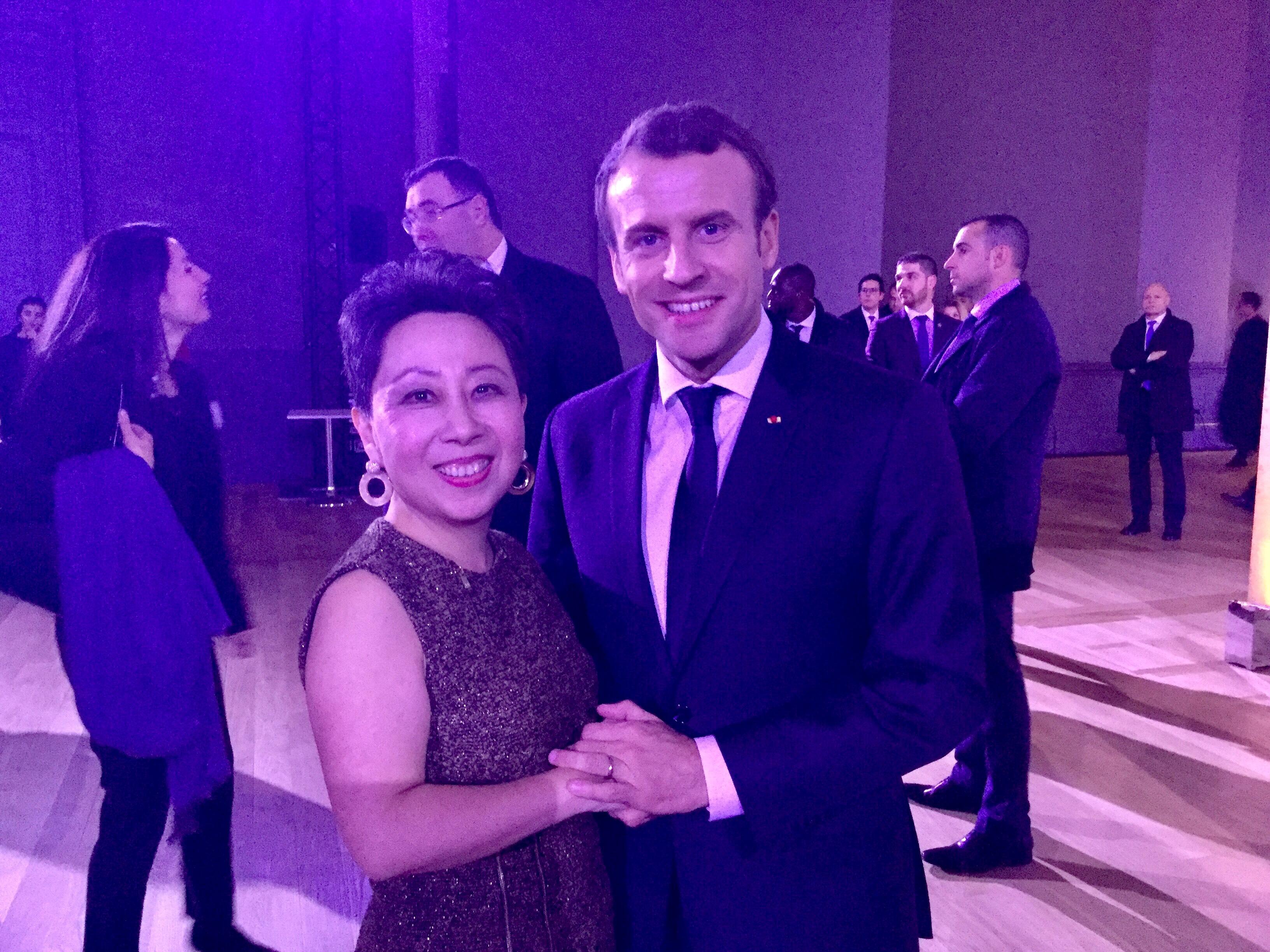 Noelle Xie Emmanuel Macron