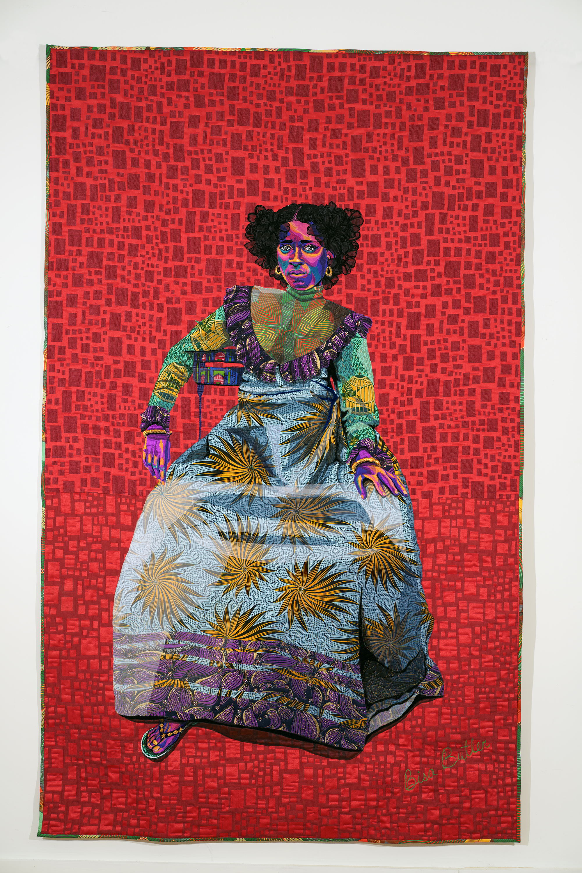 quilted portait Asantewa