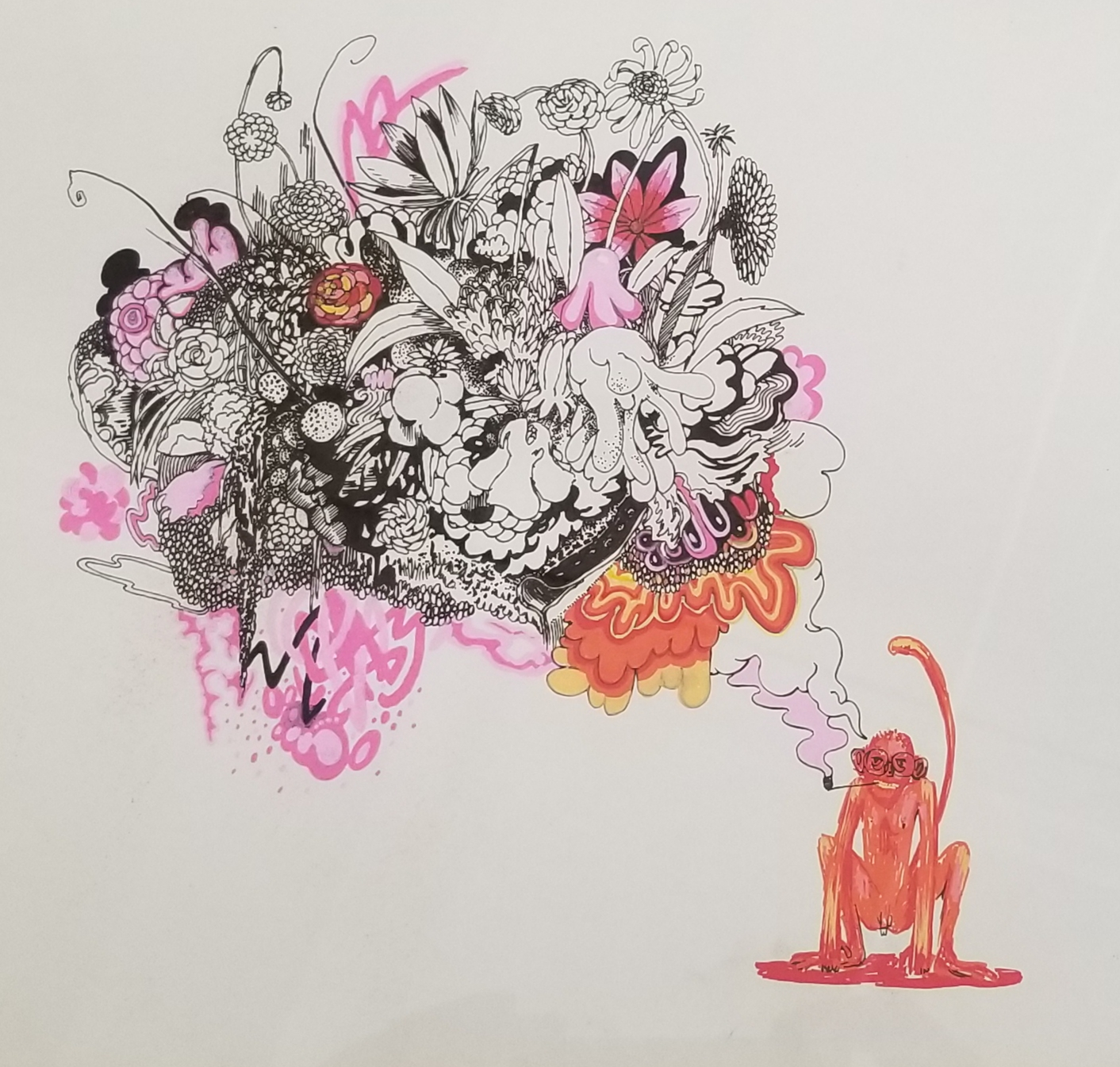 Monkey drawing Meir Srebriansky